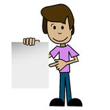 Uomo del fumetto con un fondo bianco illustrazione vettoriale
