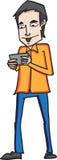 Uomo del fumetto di schizzo Fotografia Stock Libera da Diritti