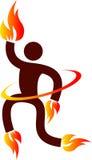 Uomo del fuoco Immagine Stock