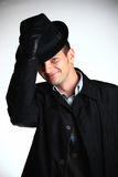 Uomo del gangster in cappello immagini stock libere da diritti