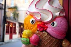 Uomo del gelato Immagini Stock Libere da Diritti