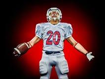 Uomo del giocatore di football americano immagini stock