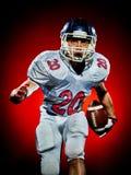 Uomo del giocatore di football americano isolato immagini stock libere da diritti