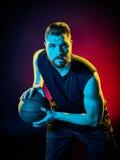 Uomo del giocatore di pallacanestro Fotografie Stock