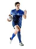 Uomo del giocatore di rugby Fotografie Stock