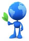 Uomo del globo (il pacificatore) Fotografia Stock Libera da Diritti