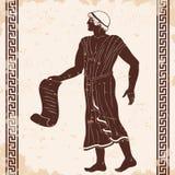 Uomo del greco antico royalty illustrazione gratis