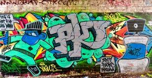 Uomo del gruppo dei graffiti fotografie stock libere da diritti