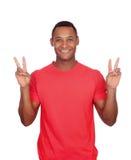 Uomo del Latino del vincitore Fotografia Stock