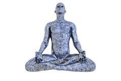 Uomo del mosaico nella meditazione Fotografia Stock Libera da Diritti