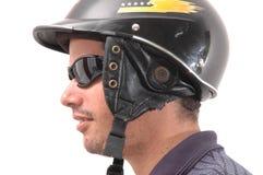 Uomo del motociclo del Latino Fotografia Stock