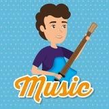 Uomo del musicista di concerto illustrazione vettoriale
