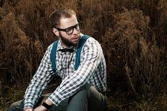 Uomo del nerd dell'agricoltore del Sud Immagini Stock