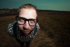 Uomo del nerd dell'agricoltore del Sud Fotografie Stock