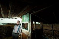 Uomo del nerd dell'agricoltore del Sud Immagini Stock Libere da Diritti