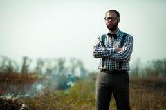 Uomo del nerd dell'agricoltore del Sud Fotografia Stock Libera da Diritti