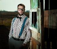 Uomo del nerd dell'agricoltore del Sud Fotografia Stock