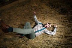 Uomo del nerd dell'agricoltore del Sud Fotografie Stock Libere da Diritti