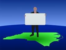 Uomo del North Carolina con il segno illustrazione vettoriale