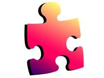 Uomo del puzzle Fotografia Stock