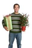 Uomo del regalo di natale immagine stock