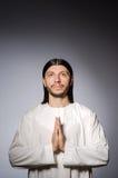 Uomo del sacerdote in religioso Immagini Stock Libere da Diritti