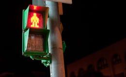 Uomo del semaforo Fotografie Stock
