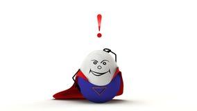 Uomo del supereroe di Puzzeled Fotografia Stock Libera da Diritti