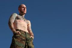 Uomo del tatuaggio Fotografia Stock Libera da Diritti