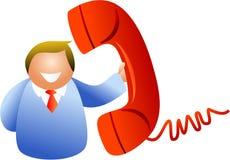 Uomo del telefono royalty illustrazione gratis