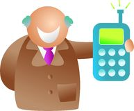 Uomo del telefono Immagine Stock