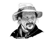 Uomo del tibetano del disegno Fotografie Stock