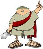 Uomo del Toga con una spada Fotografia Stock
