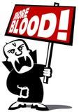 Uomo del vampiro di protesta Fotografie Stock Libere da Diritti