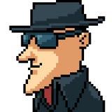 Uomo delicato di arte del pixel di vettore illustrazione vettoriale