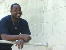 Uomo dell'afroamericano Fotografie Stock