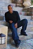 Uomo dell'afroamericano Fotografie Stock Libere da Diritti