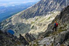 Uomo dell'alpinista Fotografie Stock Libere da Diritti