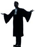 Uomo dell'avvocato che supplica Fotografia Stock