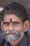 Uomo dell'indiano del ritratto Pushkar, India Fine in su Fotografia Stock Libera da Diritti
