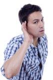 Uomo dell'orecchio Immagine Stock