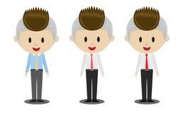 Uomo dell'ufficio di sorriso illustrazione di stock