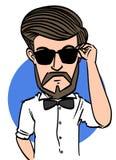 Uomo della barba Fotografia Stock