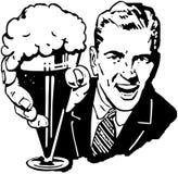 Uomo della birra Fotografie Stock Libere da Diritti