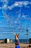 Uomo della bolla Fotografie Stock Libere da Diritti