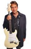 Uomo della chitarra Fotografie Stock