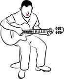 Uomo della chitarra royalty illustrazione gratis