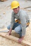 Uomo della costruzione fotografie stock libere da diritti
