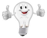 Uomo della lampadina Fotografia Stock
