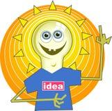 Uomo della lampadina illustrazione di stock